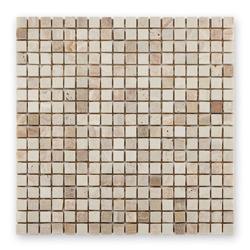 Bärwolf AM-0002 mozaika kamienna - marmur/trawertyn 30,5 x 30,5 cm
