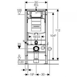 Geberit Duofix - element montażowy do WC podwieszanego, UP320, H112