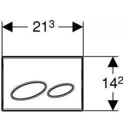 Geberit Kappa20 - przycisk uruchamiający przedni / górny do spłuczek UP200