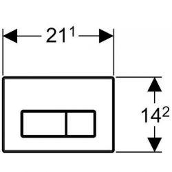 Geberit Kappa50 - przycisk uruchamiający przedni / górny do spłuczek UP200