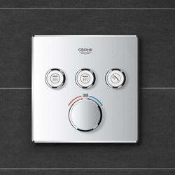 Grohe Grohtherm SmartControl - bateria podtynkowa do 3 wyjść wody, kwadratowa, chrom