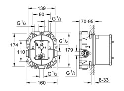 Grohe Rapido T uniwersalny termostatyczny element podtynkowy