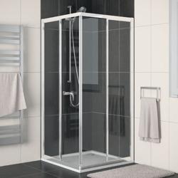 Sanswiss Eco-Line - kabina prysznicowa 4-kąt z drzwiami przesuwnymi